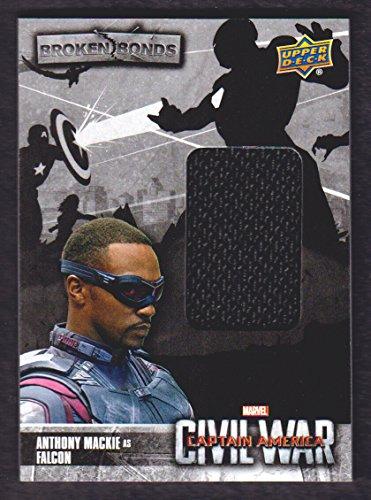 Upper Deck Bb (2016 Upper Deck Marvel Captain America Civil War Broken Bonds Memorabilia #BB-FA Falcon)