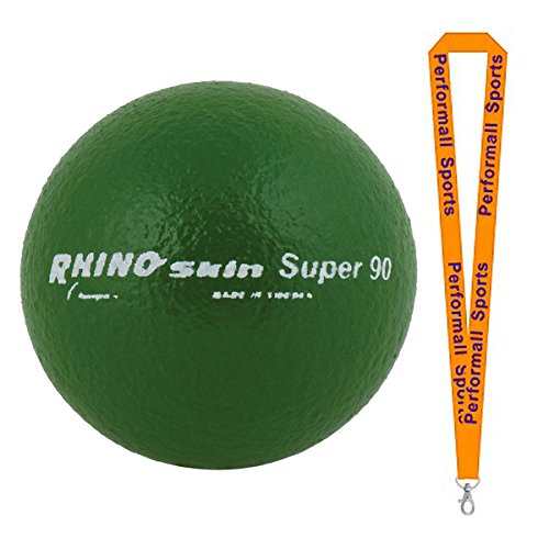 Champion Sports Rhino Skin Foam Ball Green (Set of 2) Bundle with 1 Performall Lanyard RS90-2P by Champion Sports