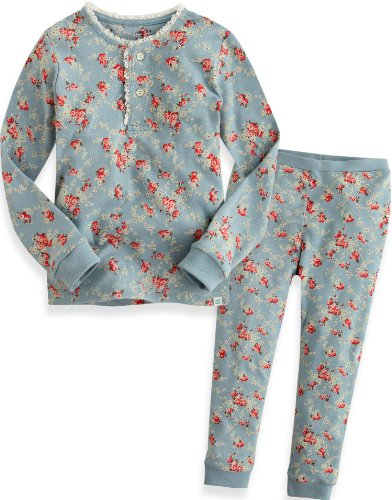 Vaenait baby 12M-7T Kids Girls Sleepwear Pajama 2pcs Set Long Lacy Blue L by Vaenait baby