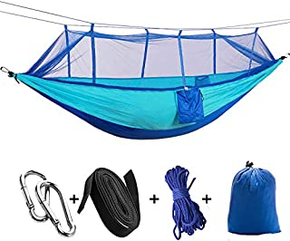 Cradifisho Hamac extérieure, moustiquaire Ultralight Nylon Double Tente de Camping hamac, Facile à Transporter