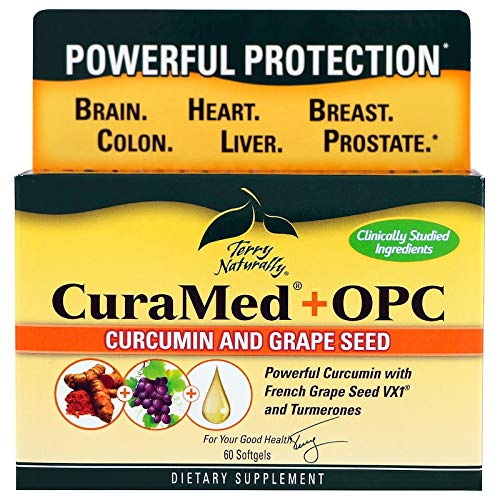 Terry Naturally Europharma Curamed OPC PreviouslyBCM95 OPC -60 Softgels -2 Pack