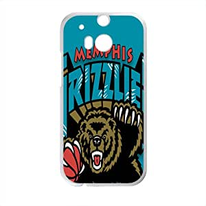 Memphis Grizzlies NBA White Phone Case for HTC One M8
