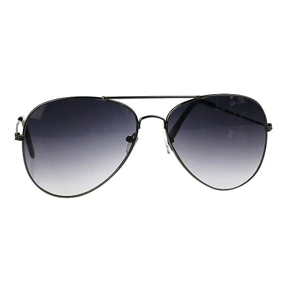 Gusspower Aviador de Metal Clásico Marco del Espejo Lente Gafas de Sol (Gris-Gris