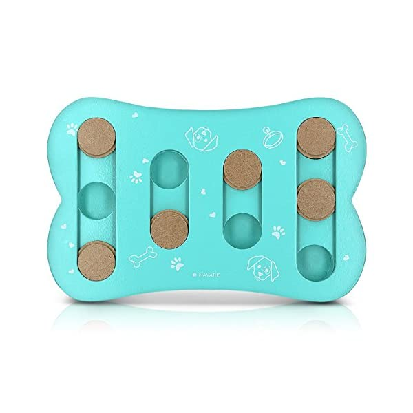 Navaris Pet Intelligence Puzzle Game - Level 1 (Beginner) Dog and Puppy IQ Game - Interactive Smart Toy IQ Training Feed Bowl for Dogs and Puppies 5