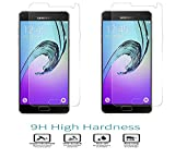RTCOTM 9H Hardness Full Screen Coverage Tempered Glass Screen Protector For Samsung Galaxy A7 2016 (A710) (Combo of 2)