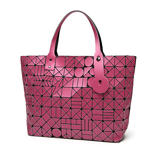 Lattice Bao Matte Fold Bag Borse bag Diamond Tote Matte Geometry donna Pink Hot Lady UTw1qc0S