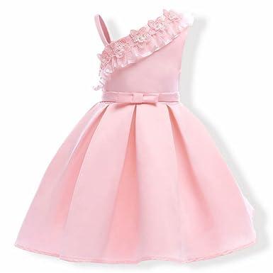 YOGLY Robe Fille Cérémonie robe de princesse avec noeud papillon Robe  Bretelle sling Enfant bébé partie 893a2e7d175