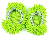 (US) TheWin Dust Mop Slippers Comforable Shoes Floor Cleaner, Green