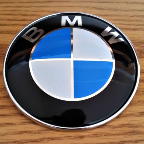New BMW 82mm Hood Trunk Front Rear Emblem Roundel Badge E36 E46 E90 M3 (E36 M3 Trunk Badge)