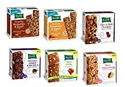 KASHI Snack Bars ULTIMATE VARIETY PACK: 1 Box Each of: GRANOLA & SEED CHOCOLATE CHIP CHIA, HONEY OAT FLAX, CHERRY DARK CHOCOLATE, CHOCOLATE ALMOND & SEA SALT, BLACKBERRY GRAHAM, RIPE STRAWBERRY (6 PACK)