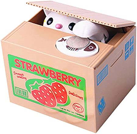 Itazura Automated Kitty Cat Stealing Coin Piggy Bank Money Saving Box Gift Decor
