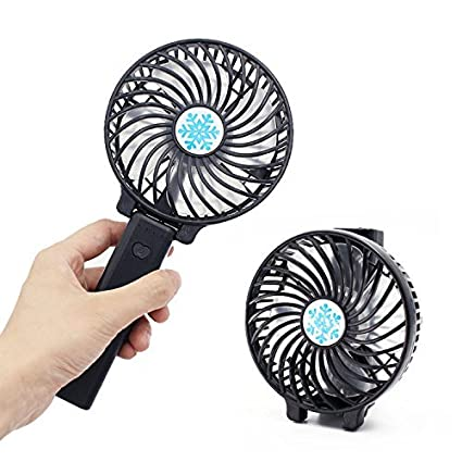 Hand Rechargeable Cooling Mini Desk Fan Humidity Cooler USB LED Rechargeable