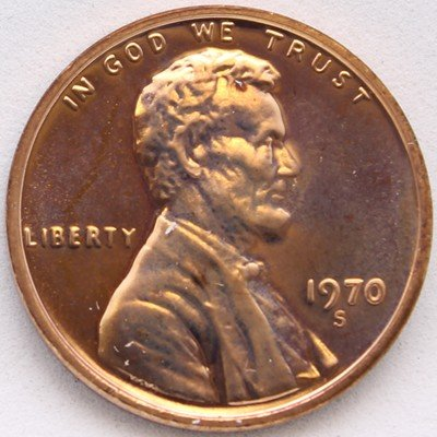 1970-S SD Lincoln Cent - Proof Small ()