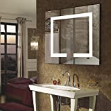 18'' x 20'' Inch LED Lighted Wall Mirror YaDianNa Rectangle Bathroom Vanity Mirror with Touch Button and LED Lights for Bathroom, Living room, and Bedroom