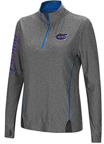 Colosseum Florida Gators Charcoal Vizzini 1/4 Zip Synthetic Wind Shirt (S=0/2)