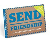 Knock Knock Send Some Friendship Fill in the Love Postcard Set, Blue (29006)