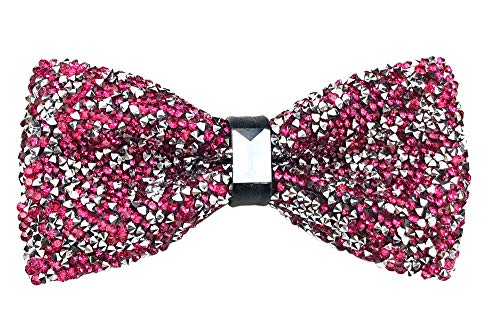 - Mens Novelty Adjustable Rose Red Silver Neck Bowties Magenta Tuxedo Pre-tied Bow Ties Neck Wear