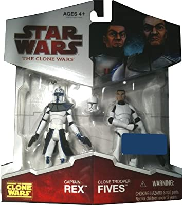 Star Wars: The Clone Wars Exclusive > Captain Rex & Clone Trooper Fives Action Figure 2-Pack