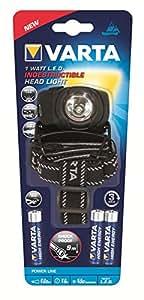 Varta Power Line Indestructible Head Light - Pack de 4 linternas (1 W)