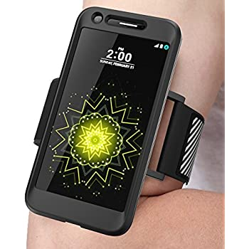 LG G5 Armband, SUPCASE Easy Fitting Sport Running Armband with Premium Flexible Case Combo for LG G5 2016 Release (Black)