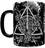 Morphing Mugs Harry Potter The Deathly Hallows Power Longing Humility Heat Reveal Ceramic Coffee Mug - 11 Ounces