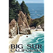 Big Sur, California - McWay Falls (12x18 Collectible Art Print, Wall Decor Travel Poster)