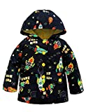 YNIQ Boys' Lightweight Dinosaur Print Raincoats