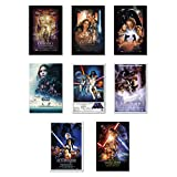 """Star Wars: Episode I, II, III, IV, V, VI, VII & Rogue One - Movie Poster Set (8 Individual Full Size Movie Posters) (Size: 24"""" x 36"""" each)"""
