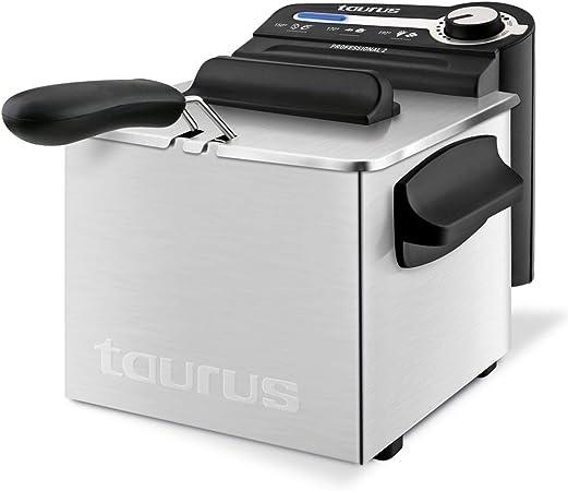 Taurus 973947000 Freidora, 2200 W, 4 kg, Negro/Acero Inoxidable ...