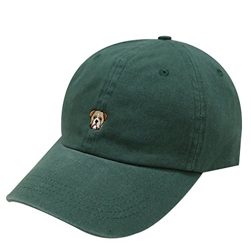 ca3c4c33942 C104 Bulldog Small Embroidery Cotton Baseball Cap 8 Colors (Hunter Green) -  Buy Online in Oman.