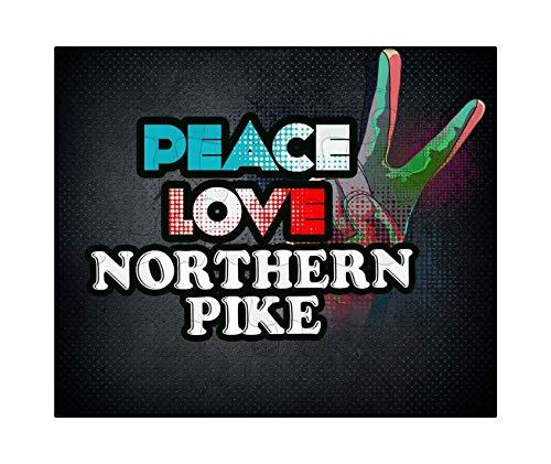 Makoroni - Peace Love Northern Pike Fish Fishing - Jigsaw Puzzle, 30 pcs.