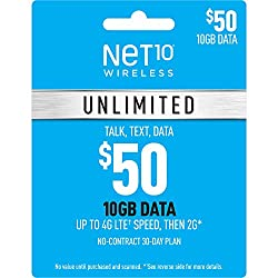 Image of the product Net10 Wirelss $50 that is listed on the catalogue brand of Unknown.
