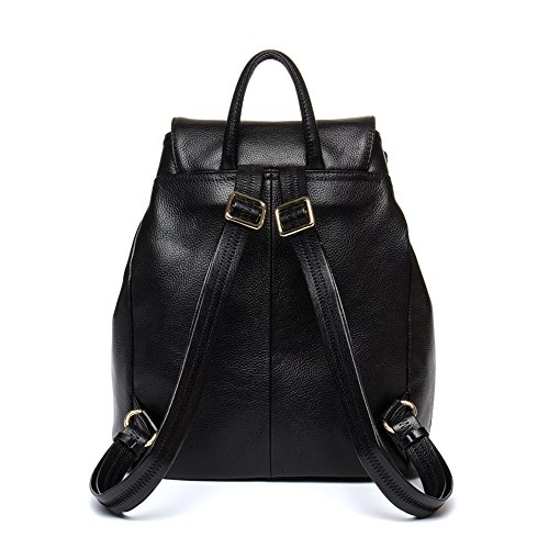 Ladies College Women BOSTANTEN Leather Newblue Black Shoulder School Purse Handbags Backpack Bag Rucksack Casual nZ6I60q
