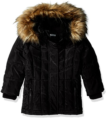Little Girls Coat (Steve Madden Little Girls' Bubble Jacket (More Styles Available), A1055-Black, 5/6)
