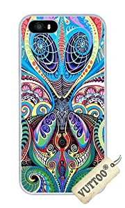 iPhone 5 Case,iPhone 5S Case,VUTTOO? iPhone 5 Cover With Photo: Psychedelic Alien For Apple iPhone 5/5S - PC White Hard Case
