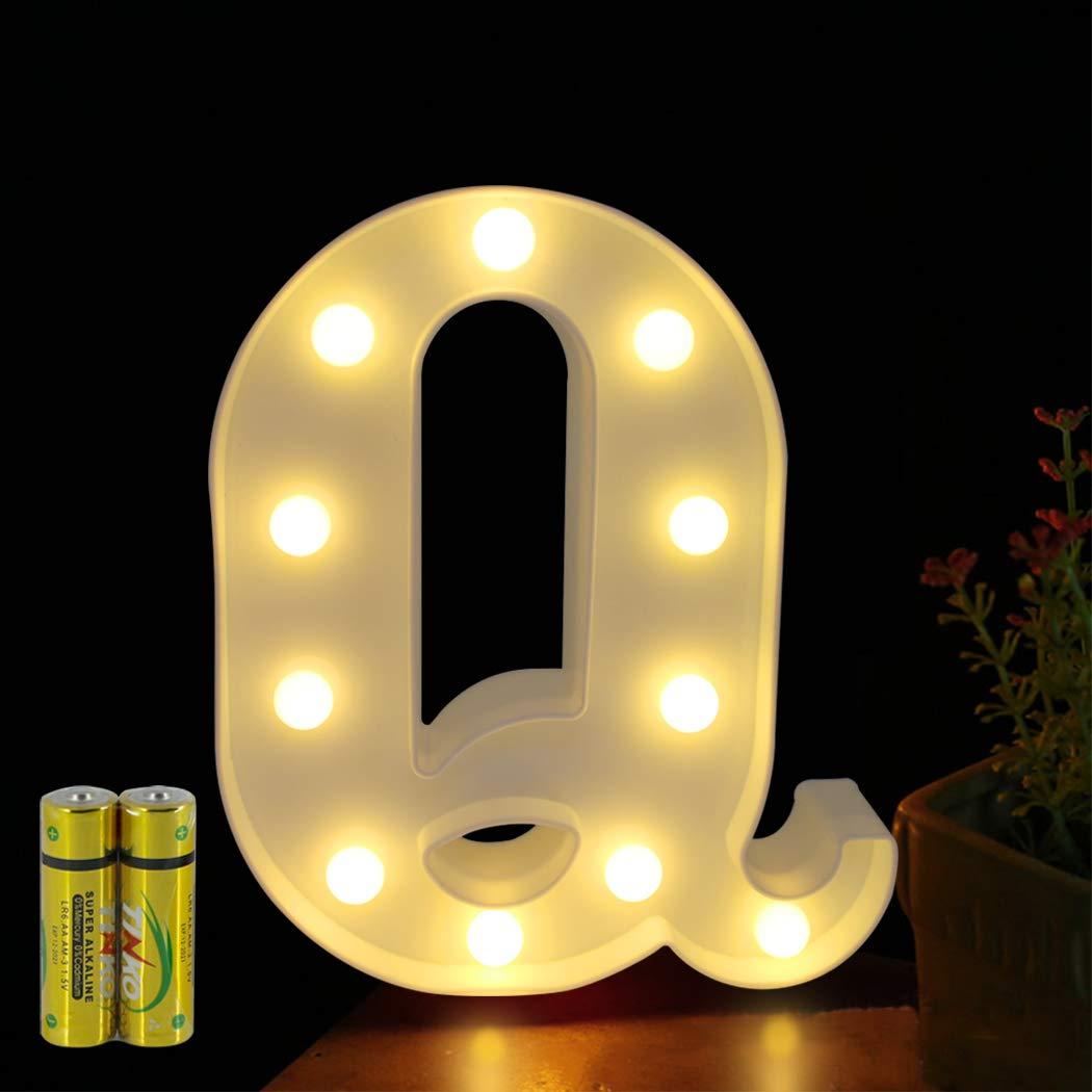 HONPHIER/® Buchstaben Lichter Alphabet Lampe LED Brief Beleuchtung Buchstabe Licht Beleuchtete Buchstaben Nachtlichter Dekoration f/ür Geburtstag Party Hochzeit Kinderzimmer F