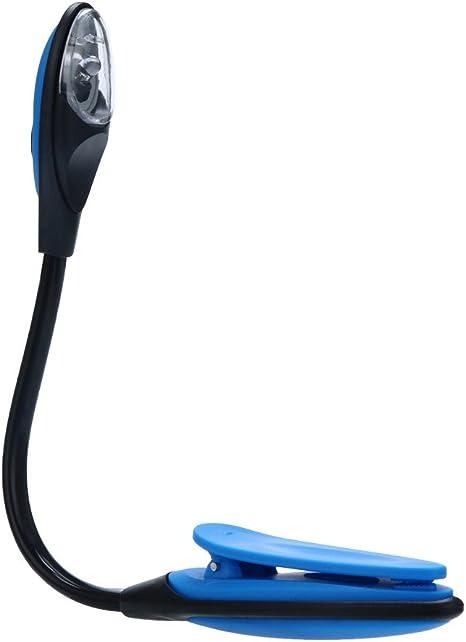 MNTT Book Light,Bright Novelty Flexible USB Mini Laptop LED for Eye Protection Reading Lamp Night Light Blue