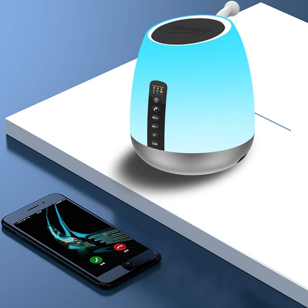 Blautooth Wake-Up Light FM Blautooth Connection Three Support IC Card Rhythm Light Breathing Light Wake Light Up Light Multi-Touch USB Farbe Portable Table Lamp