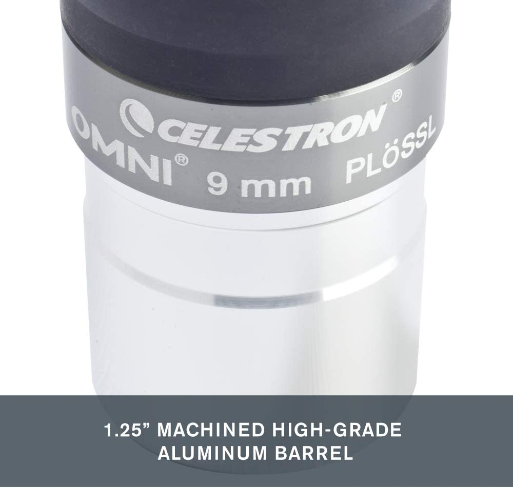 Celestron 93318 Omni - Ocular (9 mm) Negro, Plata