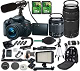 world trade center wide screen - Canon EOS Rebel T5i DSLR Camera Bundle with Canon EF-S 18-55mm f/3.5-5.6 IS STM Lens + Canon EF 75-300mm f/4-5.6 III Lens + 2pc 32 GB SD Cards + Microphone + LED Light