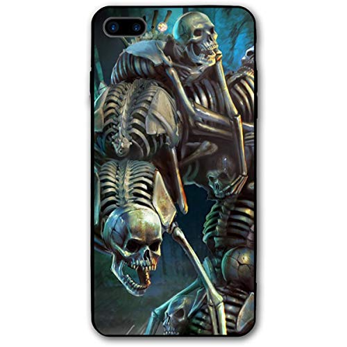 Halloween Dancing Skeleton Graveyard Carnival iPhone 8 Plus Case, iPhone 7 Plus Case, Ultra Thin Lightweight Cover Shell, Anti Scratch Durable, Shock Absorb Bumper Environmental Protection Case Cover ()