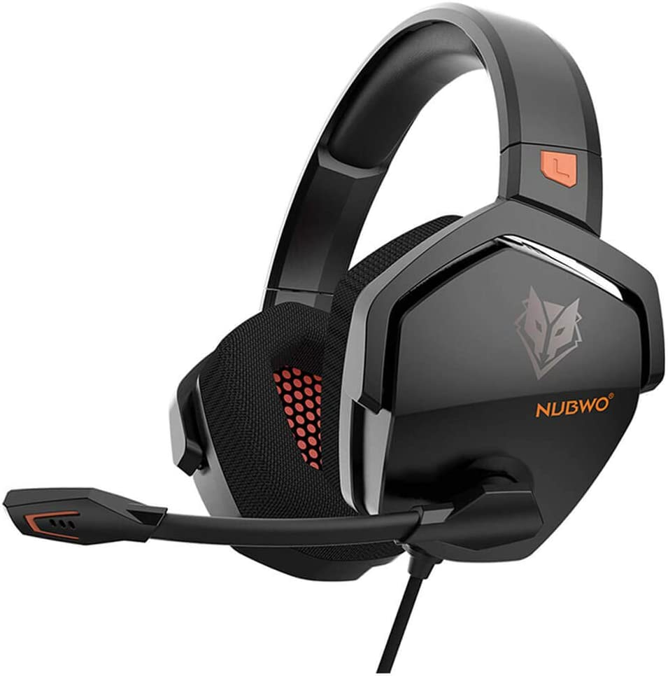 NUBWO Gaming Headset for PS4, PC with Microphone, Noise Canceling Over Ear Headphones for Computer Laptop Nintendo Switch Games