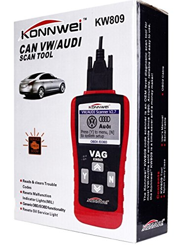 Etbotu KW809 Multifunction Scanner OBD2/EOBD Code Card Reader Reading Decoder Work on 12V Volkswagen Audi Gasoline Car by Etbotu (Image #1)