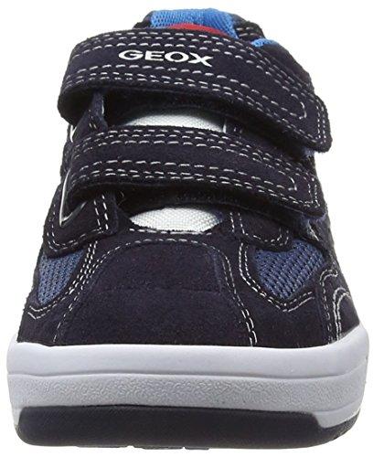 Geox J Rolk Boy A - Zapatilla Baja Niños Blau (NAVY/OFF WHITEC0836)