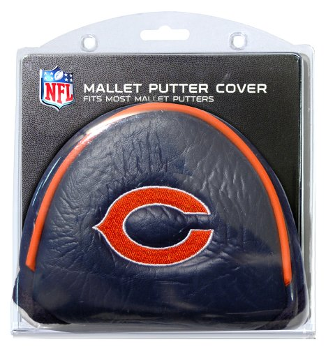 Team Golf NFL Chicago Bears Golf Club Mallet Putter Headcover, Fits Most Mallet Putters, Scotty Cameron, Daddy Long Legs, Taylormade, Odyssey, Titleist, Ping, Callaway