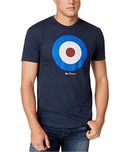 Ben Sherman Mens Small Crewneck Graphic Tee T-Shirt Blue S