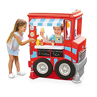 Little Tikes 2-in-1 Pretend Play Food Truck Kitchen - Refreshed: Toys & Games