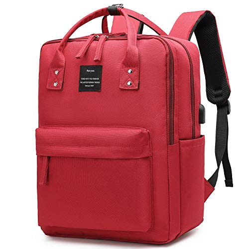 Ronyes Laptop Backpack 15.6 Inch Waterproof College Bag School Daypack Bookbag for Women Men