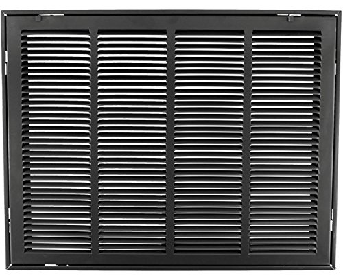 25'' X 20 Steel Return Air Filter Grille for 1'' Filter - Removable Face/Door - HVAC DUCT COVER - Flat Stamped Face - Black [Outer Dimensions: 27.5''w X 22.5''h] by HVAC Premium
