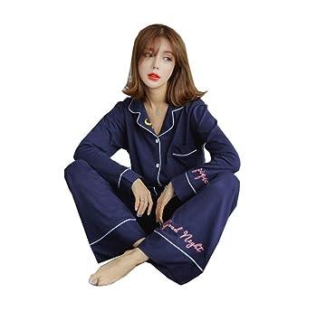 Lostryy Conjunto de Pijamas de algodón de sección Delgada para Mujer ...
